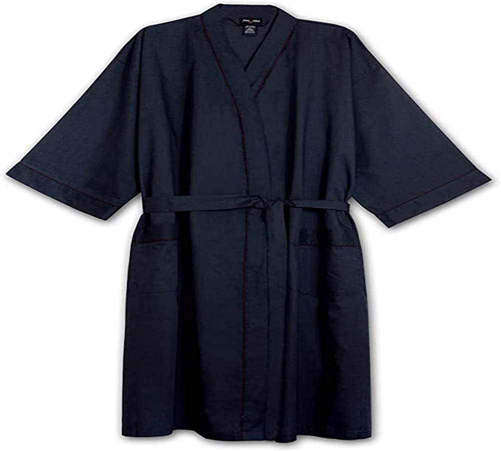 Big and Tall Lightweight Super Soft Kimono to 8X and 6X Tall in Light Blue, Burgundy, and Navy