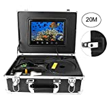Underwater Fish Finder, 9' Underwater Fish Finder Video Camera 360° Rotating Waterproof Pan Rotating Fishing Camera with 20m Cable for Ice,Lake and Boat Fishing(Black)