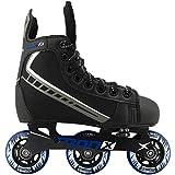 Best Inline Hockey Skates - TronX Velocity Youth Adjustable Inline Hockey Skates, Black Review
