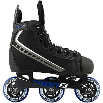 TronX Velocity Youth Adjustable Inline Hockey Skates Black Small 11-1  Small 11-1