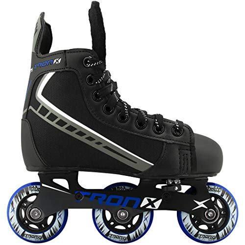 TronX Velocity Youth Adjustable Inline Hockey Skates, Black, Small 11-1...