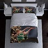 ZFSZSD Juego de Funda nórdica para niños Animales Marinos 200x200cm (para Cama de 135) Cubierta de la Colcha de Dormitorio Fibra Superfina 1 Cubierta de Colcha 2 Fundas de Almohada