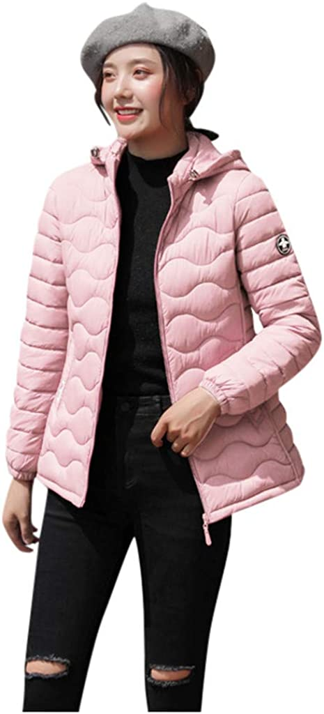 Mikey Store Women Outerwear Faux Hooded Button Coat Long Solid Jackets Pocket Coats