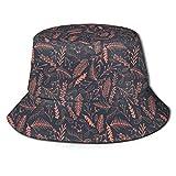 XCNGG Sombrero de Cubo Gorra de algodón para el Sol Sombrero de Pescador Rayas Ola Dibujos Animados para Hombres Mujeres