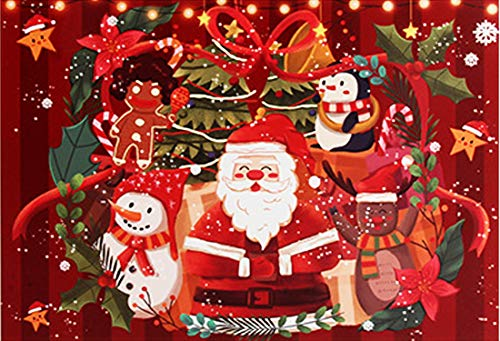 Christmas Jigsaw Puzzle ,Merry Christmas 1000 Piece Jigsaw Puzzle, Game Xmas Gifts for Adults Kids,Home Decoration,Office Wall Decoration Painting (Red-2)