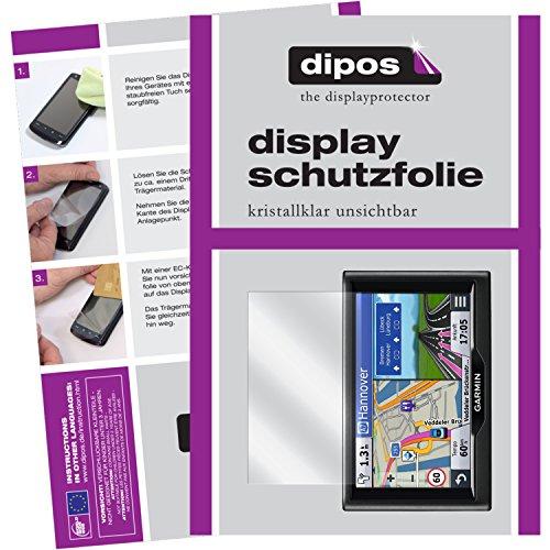 dipos I 3X Schutzfolie klar kompatibel mit Garmin nüvi 57 LMT / 58 LMT Folie Displayschutzfolie