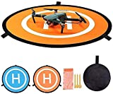 Zerich Drone Landing Pad, Waterproof 22'' Universal Landing Pads Fast-fold Double Sided Quadcopter Landing Pads for DJI Mavic PRO Spark Drone #29867