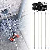 Kit de limpieza de conductos de la secadora, interior Fácil de ensamblar removedor de pelusas Chimeneas Chimeneas Chimeneas Cepillo de limpieza de ventilación de secadora multipropósito con varillas