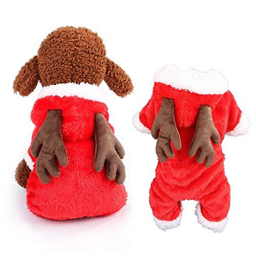 GZQ 2019 Cute Reindeer Pet Elk Weihnachten Hund Xmas Outfit Mode Welpen Overall Mantel Bekleidung Kostüm Warm Party Anzug Für Weihnachten Festliche Geschenke