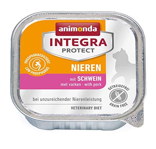 animonda Integra Protect Nieren Katzen, Nassfutter bei Niereninsuffizienz, mit Schwein, 16 x 100 g