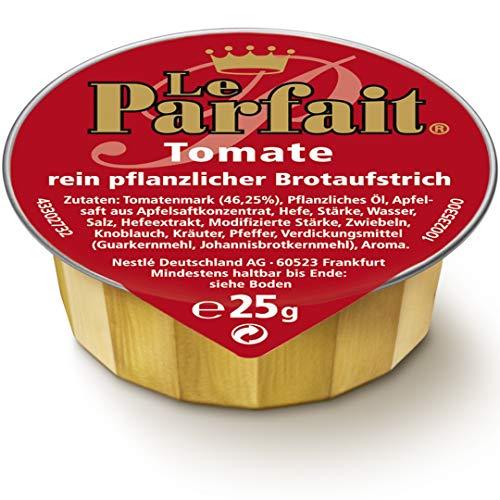 Le Parfait Tomate, Veganer Brotaufstrich Herzhaft Cremig und Pflanzlich, o.k.A., 1 Karton (120 x 25g)