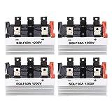 4Pezzi Modulo raddrizzatore a ponte trifase con dissipatore di calore 50A 1200V Modulo di conversione corrente a 5 terminali ad alta potenza per generatori