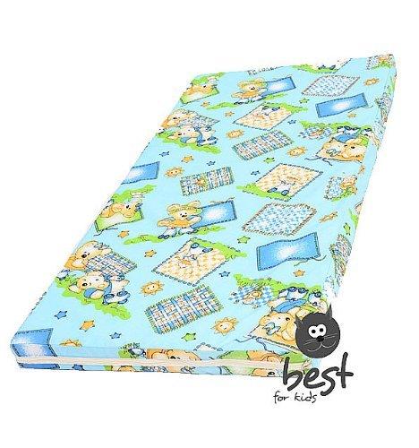 Materasso Culla, rullo del bambino materasso 60x120 cm per bambini materasso, blu