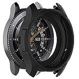 MWOOT 3 Unidades Funda Compatible con Samsung Galaxy Watch 46MM y Samsung Gear S3 Frontier (NO para Classic), Anti-caída Silicona Carcasas Negro