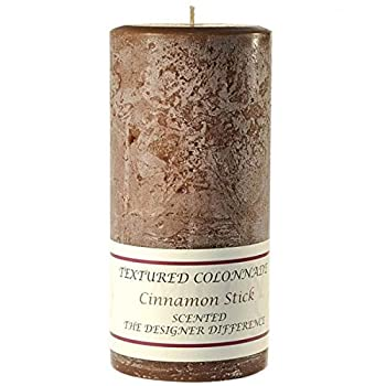 Textured 3x6 Cinnamon Stick Pillar Candle for Wedding/Dinner Holiday Event Home Decoration 50 to 70 Hours 3 in diameterx6.25 in Tall 1 Piece