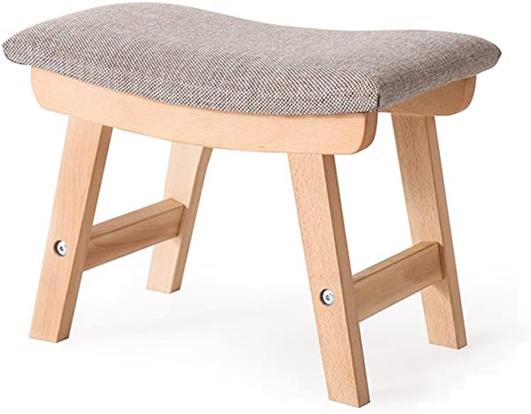 HCJSFD JCRNJSB Sofa Stool Cloth Art Shoe Bench Stool Household Bench Living Room Simple Low Stool Solid Wood Removable Round Short Leg Sofa Stool Wooden Benc Color 4