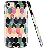 iPhone 8/iPhone 7 /iPhone 6 Case, ZUSLAB Geometry Pattern Design, Slim Shockproof Flexible TPU, Soft Rubber Silicone Skin Cover for Apple iPhone 8/7/6