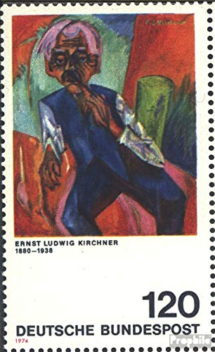 Prophila Collection BRD (BR.Deutschland) 823I verkürztes T von BUNDESPOST (Feld 25) 1974 Deutscher Expressionismus (Briefmarken für Sammler) Malerei