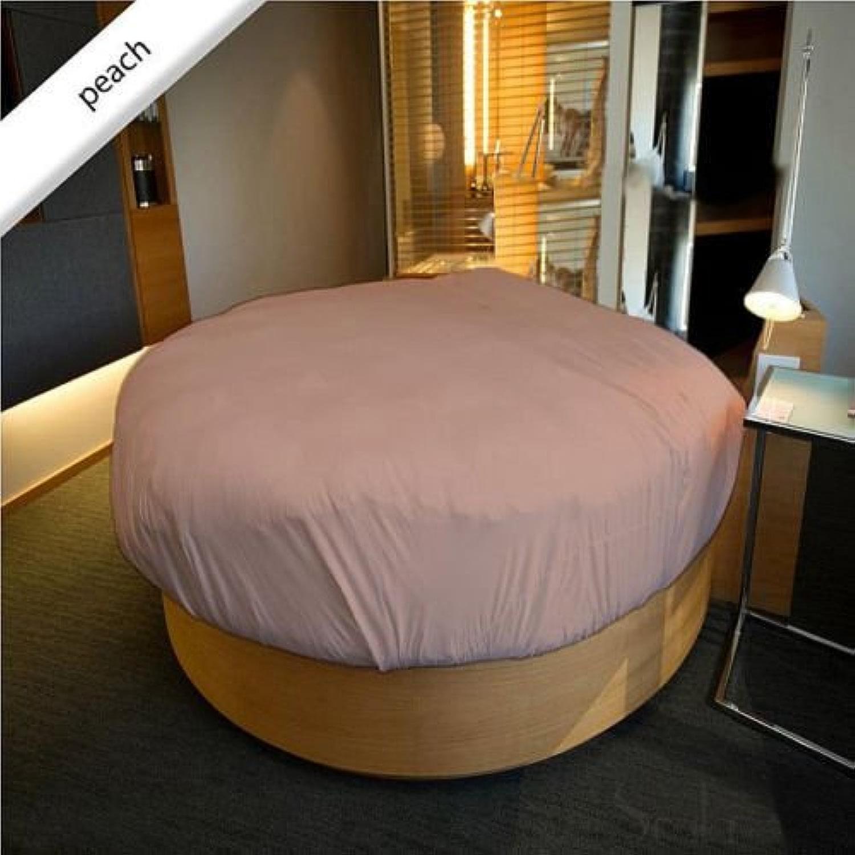 Scala Dreamz Parure 650Fils Rond Drap de lit Ensemble de Poche de 38,1cm de Profondeur 213,4cm de diamètre au mètre 100% Coton Peach Massif 650tc Italien Finition