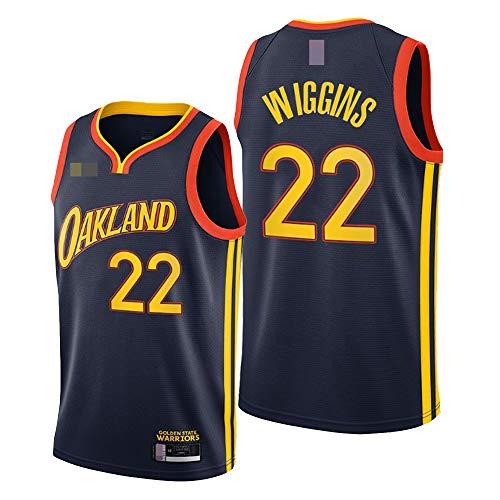 LYY Jerseys De Hombre, NBA Golden State Warriors # 22 Andrew Wiggins, Classic Basketball Sportswear Flojo Comfort Chalecos Tops, Camisetas Sin Mangas Uniformes,A,M(170~175CM)