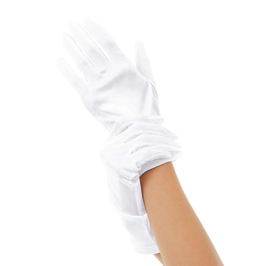 許容返済ドラゴンSilk 100% ハンドケア シルク 手袋 手首ゆるゆる おやすみ スキンケア グローブ 薄手のスムース素材 外出時の UV対策 や インナーグローブ にも最適 うるおい 保湿 ひび あかぎれ 保護 (L, ホワイト)