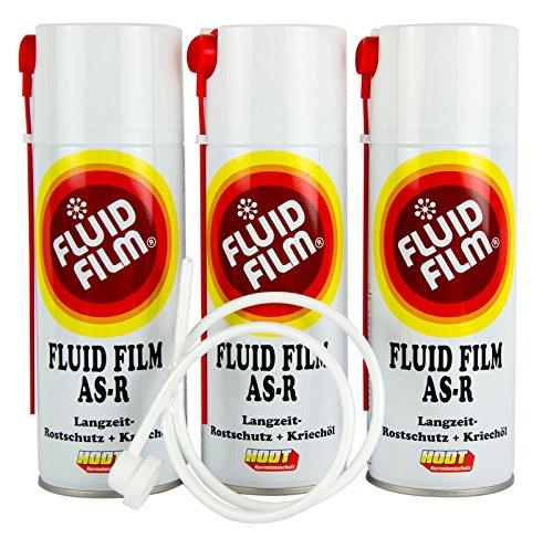 3x FLUID FILM AS-R Rostschutz Korrosionsschutz Hohlraumschutz 400 ml & Sonde