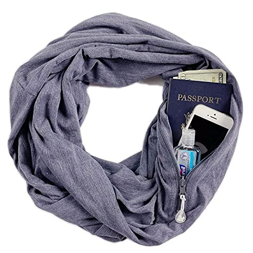 SHOLDIT | The Original Convertible Infinity Scarf with Pocket, Folds into Clutch Purse