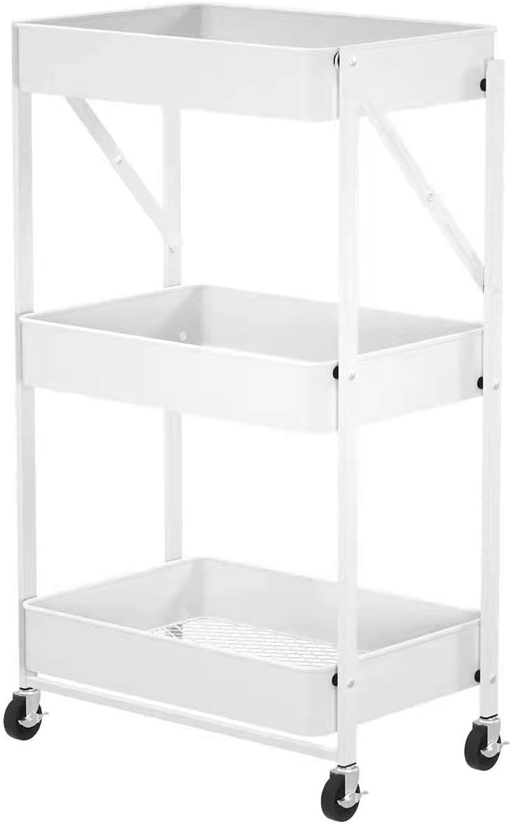 Max 55% OFF Lambgier 3 Tier High quality new Rolling Foldable cart Large