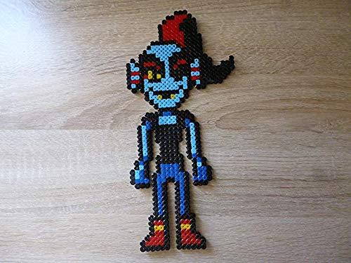 Undyne - undertale- Pixel art - Perler beads - perla de planchado