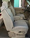 Durafit Seat Covers C1091 Gray 2000-2004 Chevy Truck/Suburban/Tahoe Buckets Exact Covers for Front Chairs Gray Velour