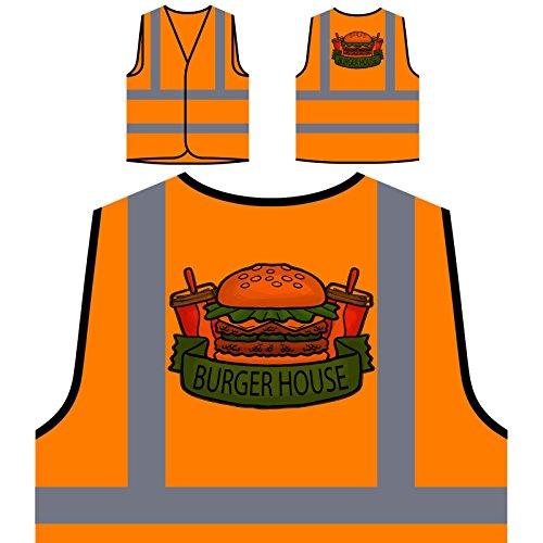 El mejor restaurante de Burger Food House Chaqueta de seguridad naranja personalizado de alta visibilidad d629vo
