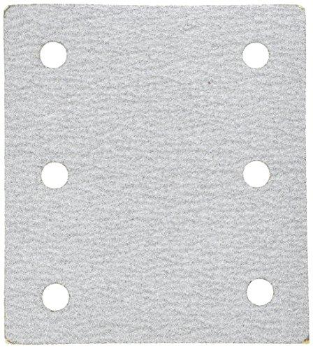 Makita 742530-2 - Hojas de lija abrasivas, 10 x 11,4 cm, 6 agujeros, grano 100, 5 por paquete
