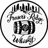 Outlander Fraser's Ridge Whisky with Outline Vinyl Decal Sticker