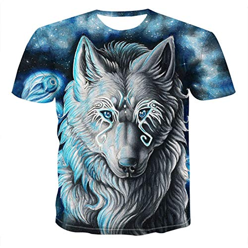 Kurzarm Herbst Und Winter Neue Set-Marke Herren Neue Wolf Animal-Print-T-Shirt 3D T-Shirt Herbst Mode Trainingsanzug Street Top XXXL Txu-209