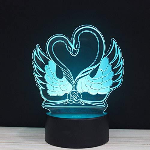 LPHMMD Nacht Licht 3D Valentijnsdag Kleurrijke Licht Liefde Gesture Action Touch Lights LED Valentine Gift Present Nacht lamp Afstandsbediening Verlichting