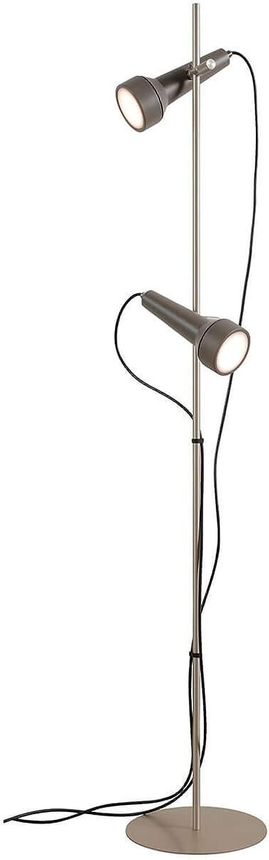 Karman torcia led, lampada da terra con 2 sorgenti luce,lo stelo e il basamento in alluminio anodizzato HP155BG INT