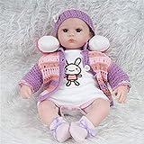 Y DWAYNE Reborn Dolls African American 45 Cm Simulación Rebirth Doll Girl Simulación Avanzada Material de Seguridad para bebés Altamente simulado Compañero de Juegos para niños Colección Preciosa