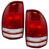 Taillights Tail Lamps Driver and Passenger Replacements for 97-04 Dodge Dakota Pickup Truck 55055113 55055112