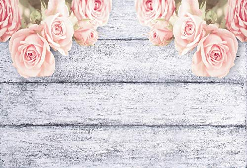 Photography Backdrops Wooden Board Spring Flowers Tassel Planks Decoration Photo Background Studio Props A25 9x6ft/2.7x1.8m