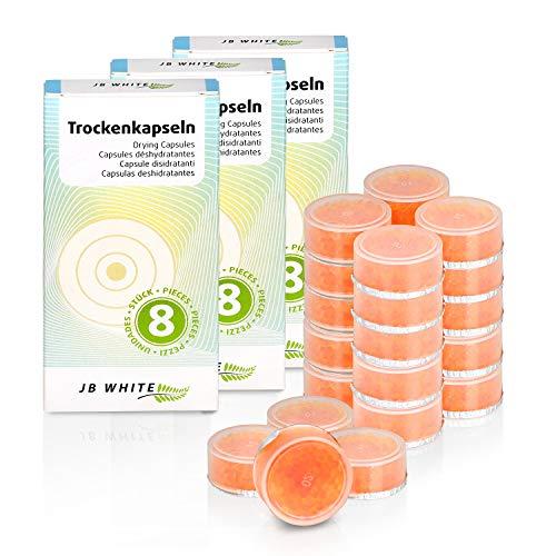 JB White 24 Stück Trockenkapseln für Hörgeräte, Hörgerät Trockentabletten, Trocknungskapseln für Trockenbox und Trockenbecher Zubehör (24 x 5g)