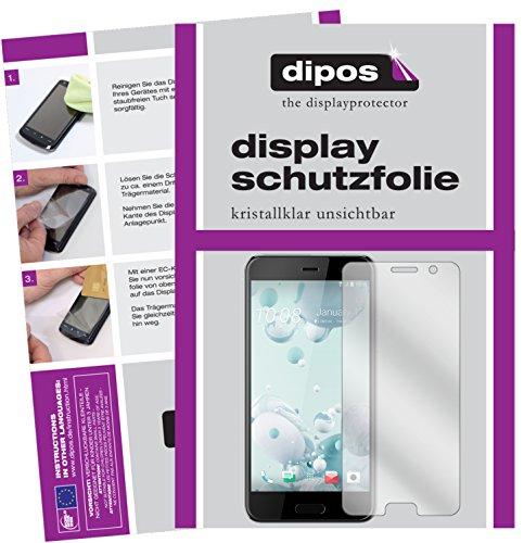 dipos I 2X Schutzfolie klar kompatibel mit HTC U Play Folie Bildschirmschutzfolie