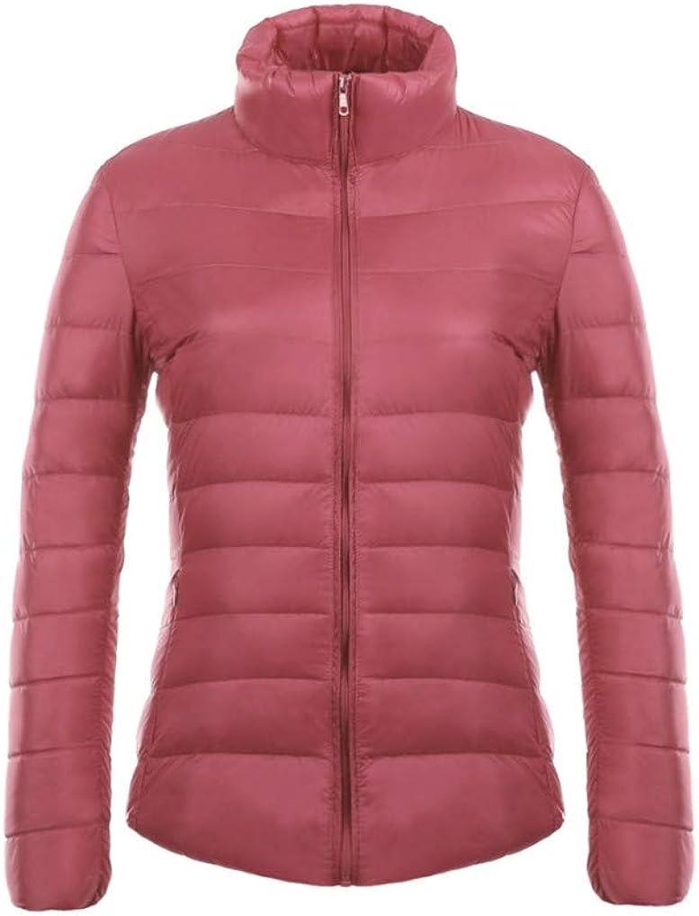 Winter Warm Down Coat Ladies Ultra Light Duck Down Padded Outwear Hooded Short Slim Solid Color Overcoat Jacket