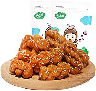 Chinese Fried Dough Twists Brown Sugar Flavor Small Twist Crisp Mahua 500g 中国传统糕点红糖麻花500g小麻花