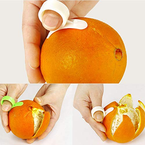 TOSSPER 1Pc Random Color Kitchen Gadgets Cooking Tools Peeler Parer Finger Type Open Orange Peel Orange Device