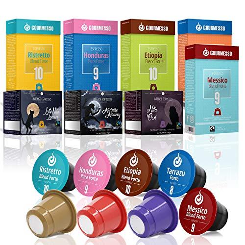 Gourmesso Fairtrade Kaffeekapseln - 80 Nespresso kompatible Kaffeekapseln - 100% Fairtrade Espresso
