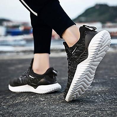 Pyjacos Zapatillas de Deporte Respirable Sneakers Zapatillas Running para Unisex