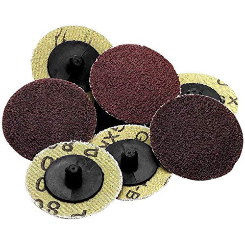Katzco Roll Lock Sanding and Grinding Discs - 50 Pieces - 2 inch 36 Grit -...