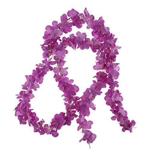 Serenable Artificial Hydrangea Twig Garland String of Silk Flowers, Wedding - Blue - Purple
