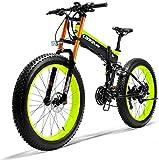 Bicicleta eléctrica de nieve, 26' batería de litio de la montaña de bicicleta eléctrica de 36V 250W 6AH Diseño oculto de la batería 35 Millas de Alcance y frenos de doble disco de aleación de biciclet