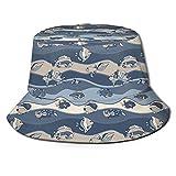 Funny Vute Sombrero de cubo para peces de acuario, plegable, unisex, sombrero de pescador, para vacaciones, escuela, compras, senderismo